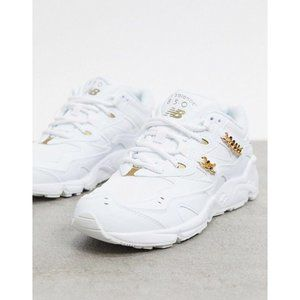 New Balance WL850GFB Gold Chain Sneakers Womens 7